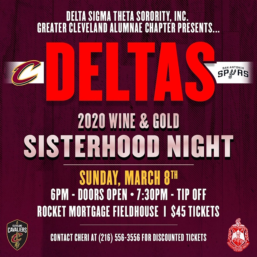Sisterhood Night with the Cleveland Cavaliers