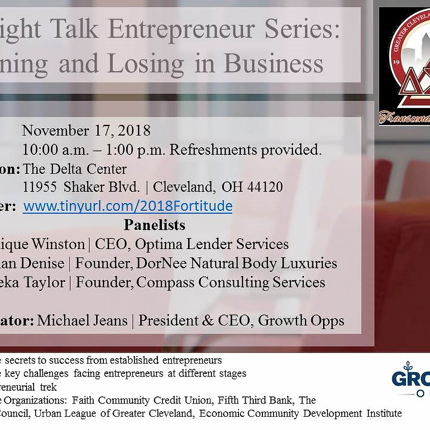 Straight Talk Entreprenuer Series: Winning and Losing in Business