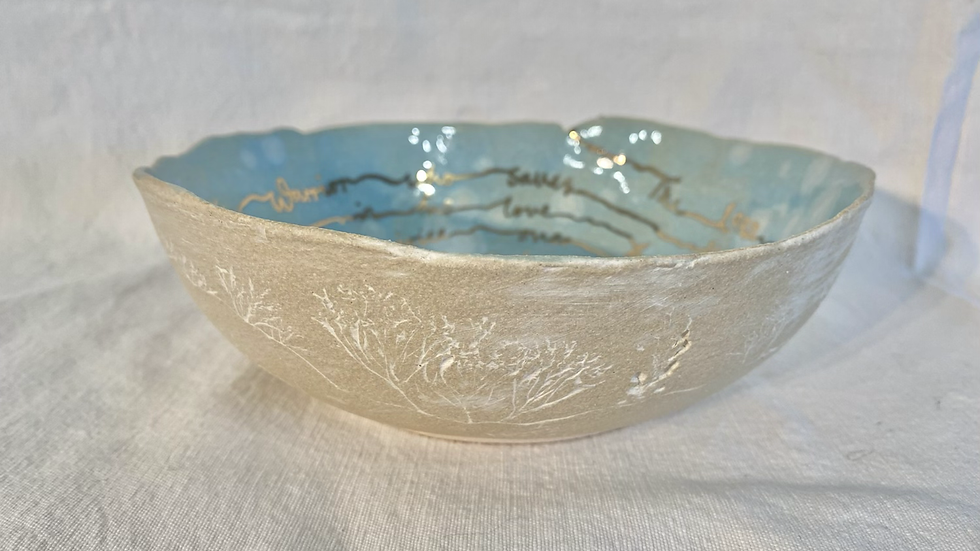 Snowflake Scribed Bowl