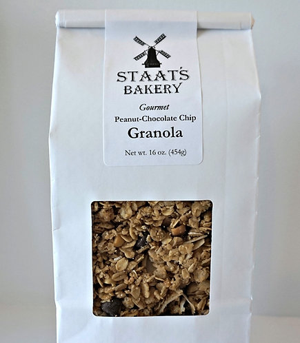 Peanut-Chocolate Chip Gourmet Granola (16 oz)
