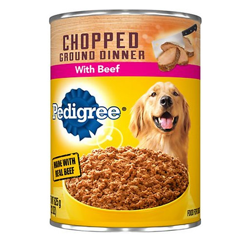 Mars Pedigree Chopped Ground Dinner: With Beef 13.2oz