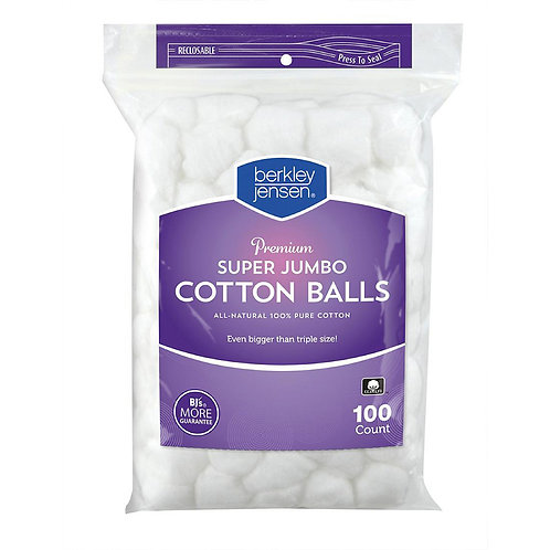 Cotton Balls Berkley Jensen Super Jumbo 1 pk./100 ct.