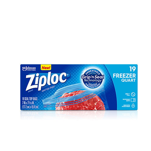 Ziploc Limited Edition Easy Open Tabs 7/7 inch 50 Bags