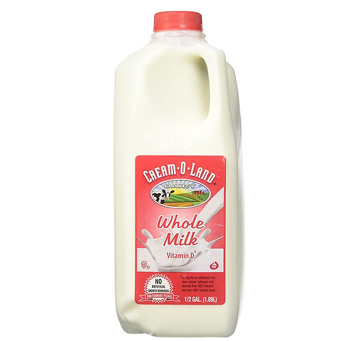 Cream-O-Land: Whole Milk Vitamin D 1/2gallon