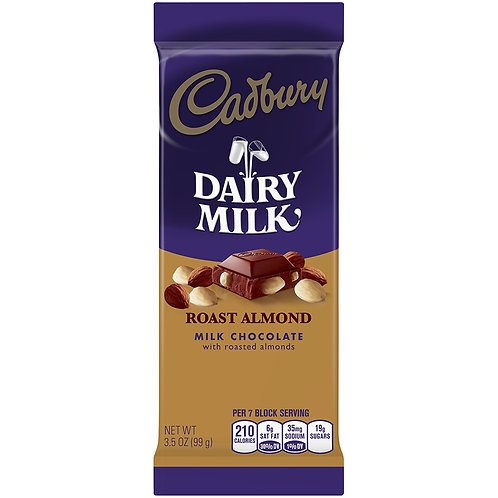 Dairy Milk Roasted Almond, 3.5 Oz 99g