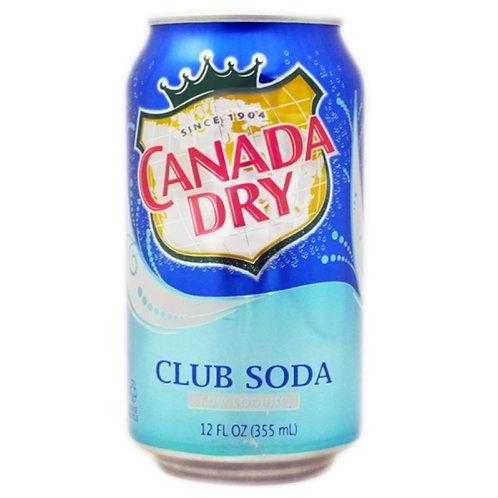 Canada Dry Club Soda 12fl Oz