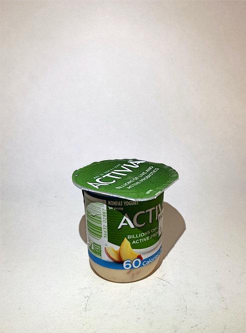 Activia Probiotic Yogurt: Peach 4oz
