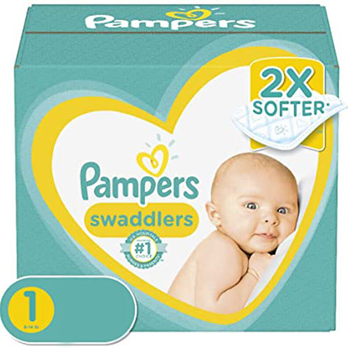 Pampers Swaddlers 1 8-14 lb 64 diapers