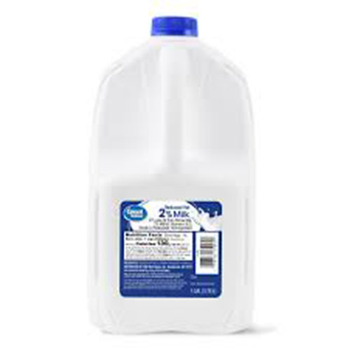 Great Value Whole Milk Reduced Fat 2% 1 GAL