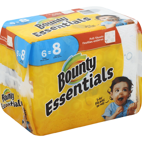 Bounty Essentials Paper Towels 27.9 cm*25.9 cm