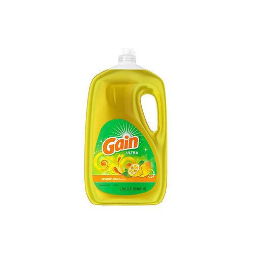 Gain Ultra Lemon Zest Dishwashing Liquid Dish Soap 90oz