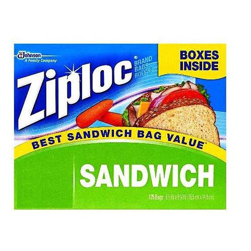 Ziploc  Easy Open Tabs Sandwich 125 Bags