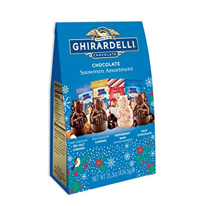 Chirardelli Chocolate SNOWMEN Assortment 15.3 oz