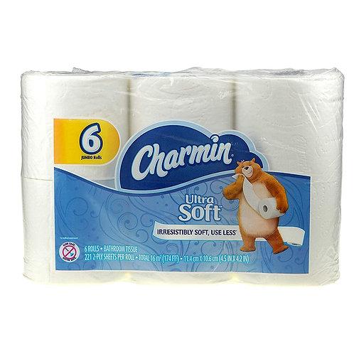 Charmin Bathroom Tissue: Ultra Soft 6 rolls