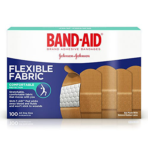 Band-Aid Flexible Fabric Comfortable Prot 100 Bandages