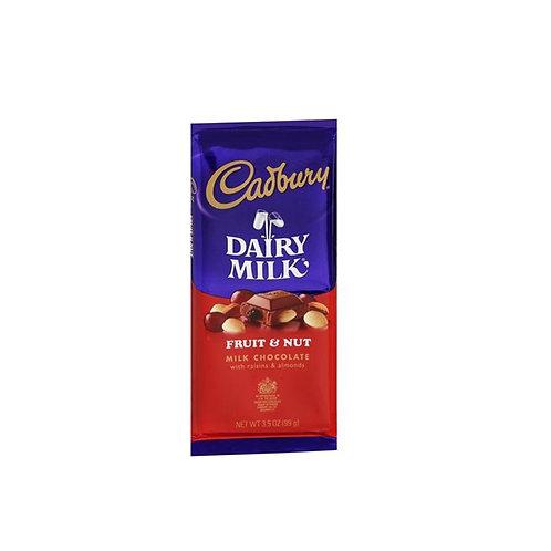 Cadbury Dairy Milk, Fruit&nut Milk Chocolate, 3,5oz 99g