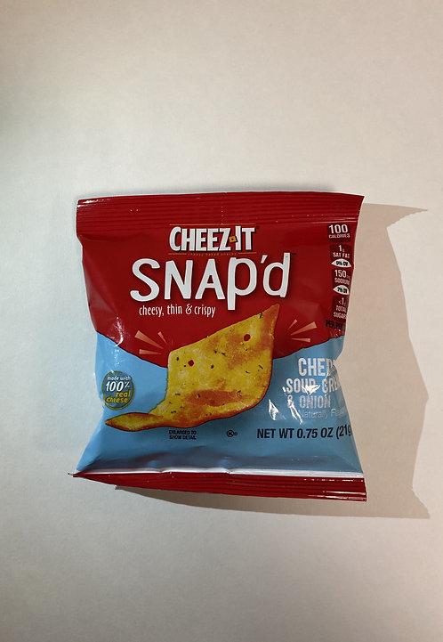 Cheez It Snap'd Cheddar Sour Cream& Onion, 0,75 Oz 21g