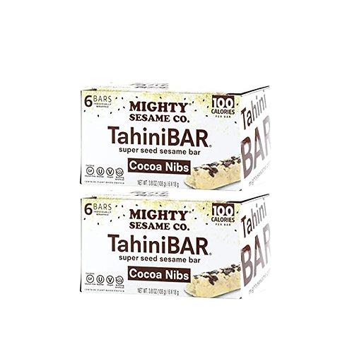 Mighty Sesame Tahini Bars Cocoa Nibs