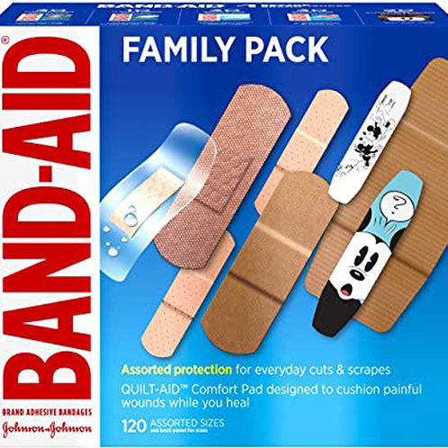 Band-Aid brand Adhesive Bandages J&J: Variety Pack 30 Assorted Sizes