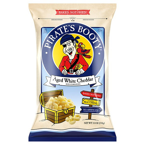 PIRATE'S BOOTY Aged White Cheddar 18 oz