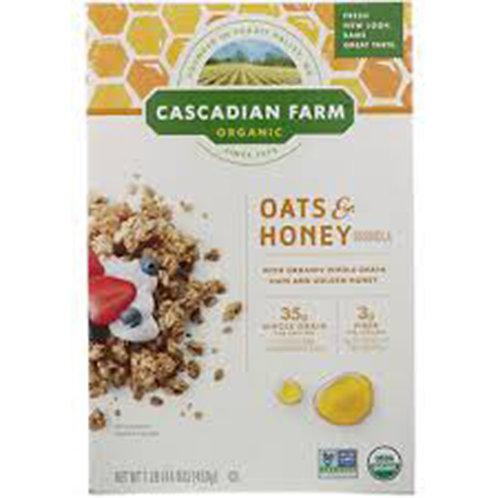 Cascadian Farm Organic Cereal: Oats & Honey Granola 16oz