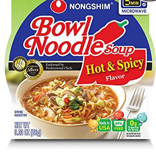 Bowl Noodle Soup Hot & Spicy Flavor 3.03oz