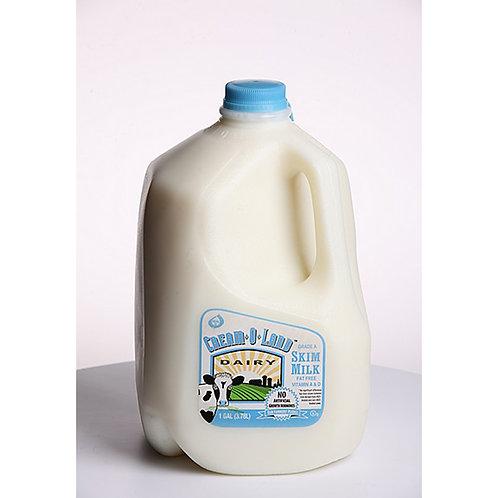 Cream-O-Land: Fat Free Milk 1/2 gallon