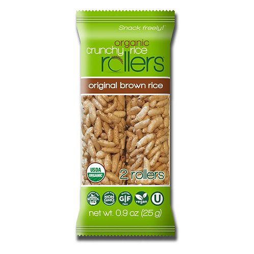 Organic Crunchy Rice Rollers original brown rice 0.9 oz