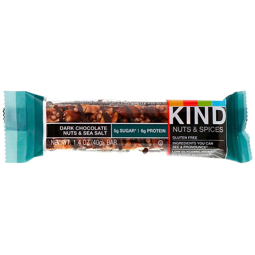 Kind Bar: Nuts & Spices, Dark Chocolate Almond & Sea Salt