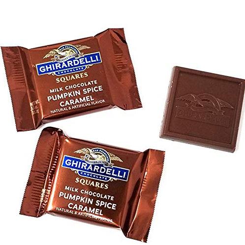 Ghirardelli Chocolate Individual: Milk Chocolate Pumpkin Spice Caramel 15g