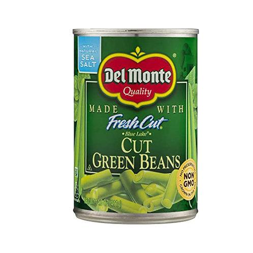 Del Monte Cut Green Beans with natural Sea Salt 14.5 oz