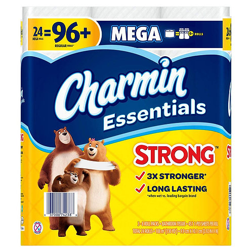 Charmin Bathroom: Essentials Strong 24=96