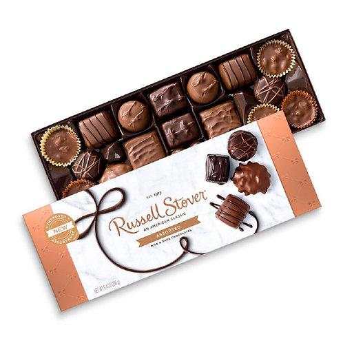 Russell Stover Assortment Chocolates Set: Milk and Dark Chocolates 10oz