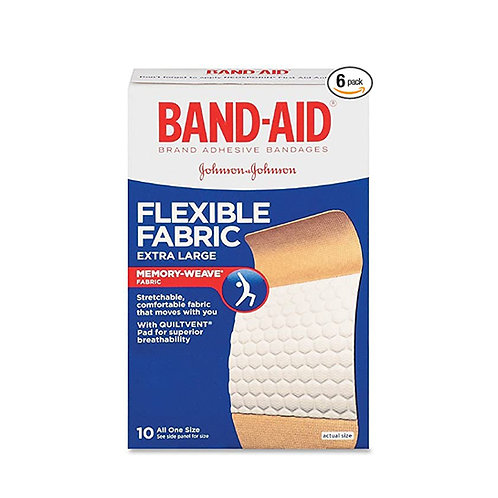 Band-Aid Flexible Fabric Comfortable Prof 10 Bandages