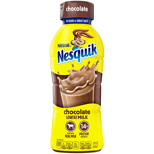 Nestle Nesquik: Chocolate Lowfat Milk 14fl.oz