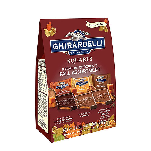 Chirardelli Chocolate SQUARES Fall Assortment 21.3 oz