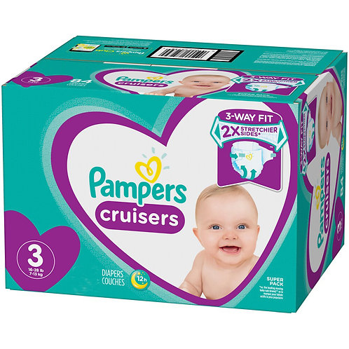 Pampers Cruisers 3 16-28 Lb 64 Diapers