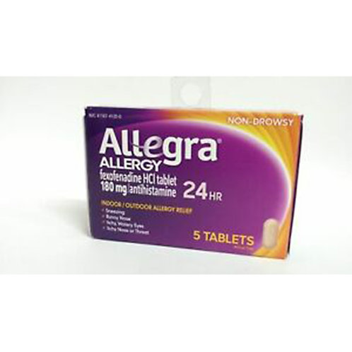 Allegra Adult 24hr 5 tabl. 180mg