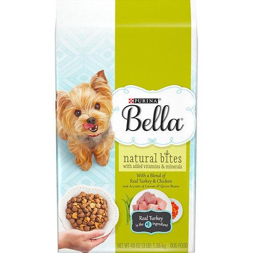 Purina Bella Natural Bites Real Turkey&Chiken 48 oz