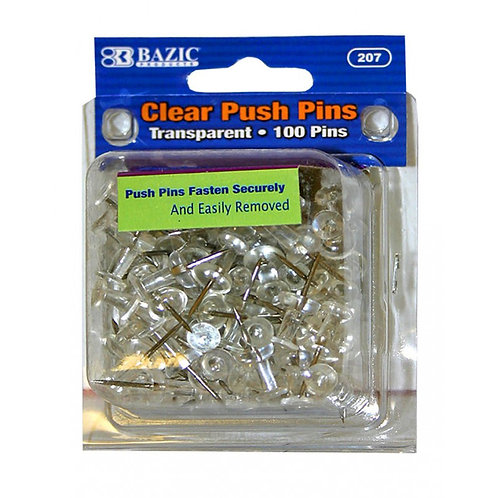 Bazic clear push pins 100PK