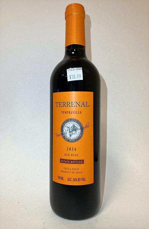 Terranal Tempranillo Red Wine, 750ml