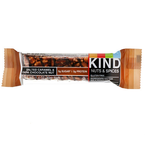Kind Bar: Nuts & Spices, Salted Caramel & Dark Chocolate Almond  1.4oz