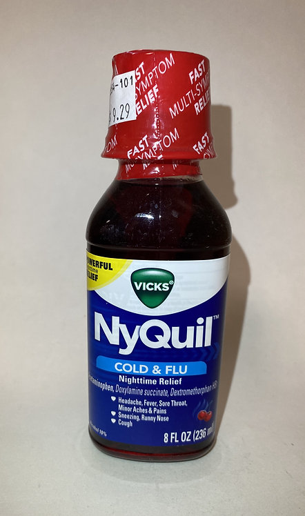 NyQuil Cold&Flu Cherry  Nighttime Relief 8fl oz