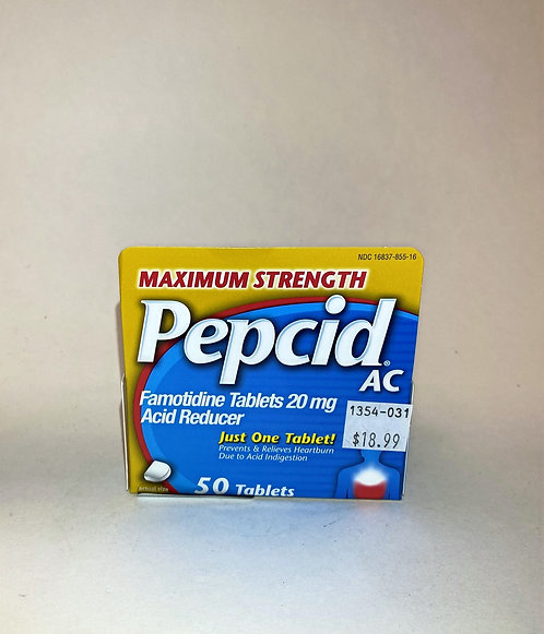 Pepcid AC J&J Maximum Strenght 50 tablets
