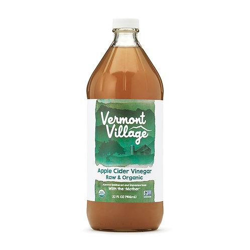 VERMONT VILLAGE Apple Cider Vinegar Raw&Organic 32 FL OZ