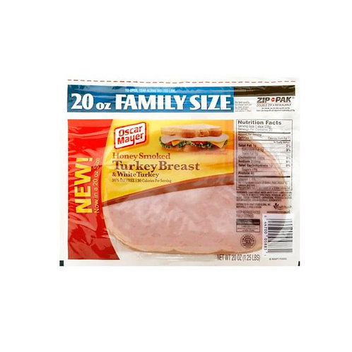 Oskar Mayer Smoked Turkey Breast & White Turkey, Extra Lean, 20 Oz