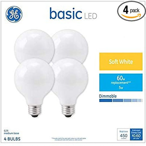 GE Basic 60W 4 bulbs