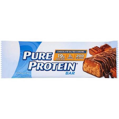 PURE PROTEIN BAR Chocolate Salted Caramel GLUTEN FREE 1.76 oz
