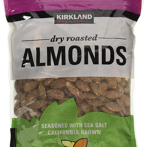 Kirkland Almonds: Dry Roasted and Salted 1.6oz