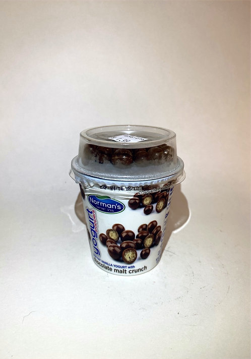 Norman's Yogurt Low Fat With Chocolate Malt Crunch 5.3oz